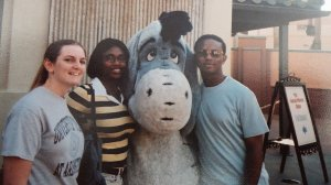Just for fun: Beth Francesco, Erica Bryant and Ty Allison take advantage of their free time during the CMA Orlando conference in 2002.