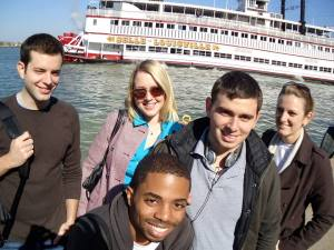 (L-R) Mark Bauer, Monica Nagy, Andrew Plock and Beth Francesco (back) and John Harden, along with Taylor Cammack (not shown) take in the sights in Kentucky in 2010.
